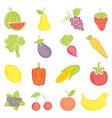 A set of hand drawing food vector