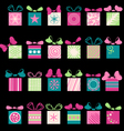Festive gifts and bows vector
