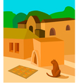 Cat in the sun vector