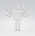 Silver mega manager male icon vector
