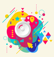 Stopwatch on abstract colorful spotted background vector
