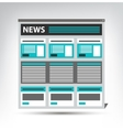 Web site news newspaper journal template in a vector