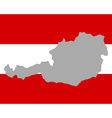 Map and flag of austria vector