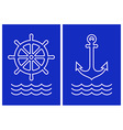 Anchor ship steering and sea wave vector