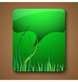 Eco promotion brochure with diverse green elements vector