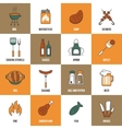 Bbq line icons vector
