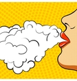 Poster retro pop art she smokes vector