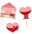 Gift set valentines day vector
