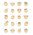 Web icons with different faces vector