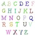Abc hand drawn calligraphy alphabet vector