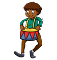 Man with a drum vector