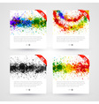 Set of bright paint splashes vector