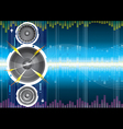 Audio background vector