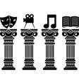 Pedestals of arts stencils vector