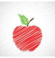 Red sketch apple design vector