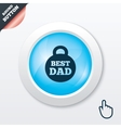 Best dad sign icon award weight symbol vector