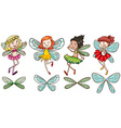 Four fairies vector