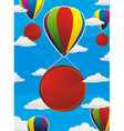 Balloons frame circle vector