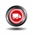 Truck icon red round button vector