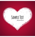 Doodle heart on red background vector