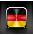 Flag of germany as round glossy icon button vector