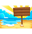 Beach and sign vector
