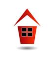 Logo showing growing real estate market vector