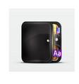 Wallet  organizer mobile app icon vector