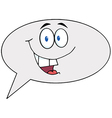 Cartoon speech bubble character speak vector