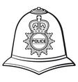 British police helmet vector