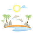 Al island summer landscape vector illustrati vector