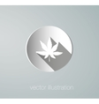 Icon cannabis paper vector