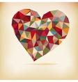 Retro color heart vector