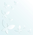 White blue butterflies vector