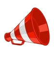 Vintage red megaphone vector