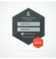 Login form page vector