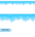 Water drips or melting ice seamless border vector