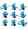Swoosh feet icons vector