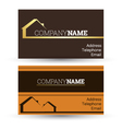Business card real estate sales vector