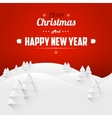 Merry christmas and happy new year landscape vector