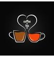 Coffee tea love concept background vector