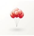 Red balls vector