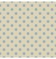 Retro seamless blue polka dots pattern vector