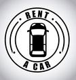 Rent car design vector