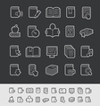 Books icons black background vector