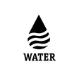 Water drop with waves design template vector