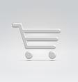 Silver shopping icon vector