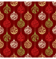 Seamless pattern of christmas balls vector