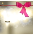Elegant christmas background with ribbon and place vector