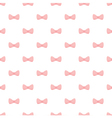 Seamless pattern pink bows on white background vector